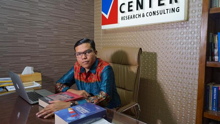 nalis Politik sekaligus Direktur Eksekutif Voxpol Center Research and Consulting, Pangi Syarwi Chaniago. Istimewa