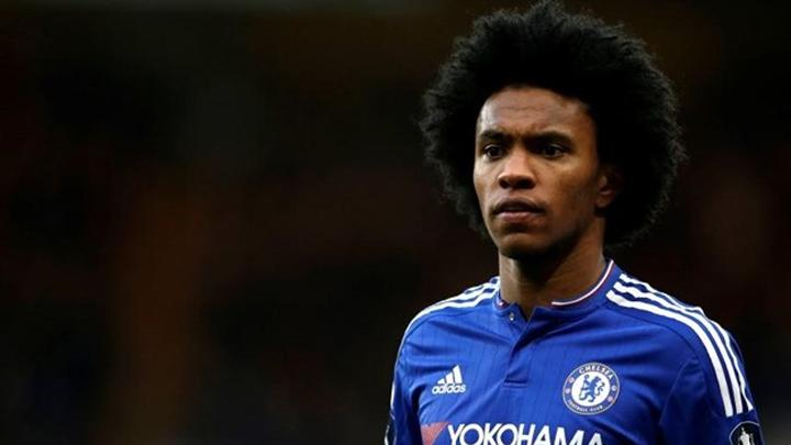 Pemain Chelsea, Willian da Silva. REUTERS