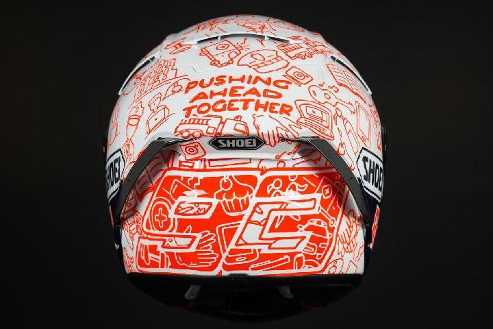 Marc Marquez Unveil Special Charity Helmet for Jerez. Doc. MotoGP.