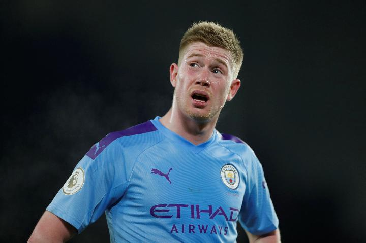 Pemain Manchester City Kevin De Bruyne. Reuters