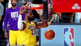 Pemain LA Lakers, LeBron James. Credit. Kim Klement-USAToday-Reuters.
