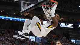 Pemain klub NBA Utah Jazz, Donovan Mitchell. Reuters/Chris Nicoll-USA TODAY Sports